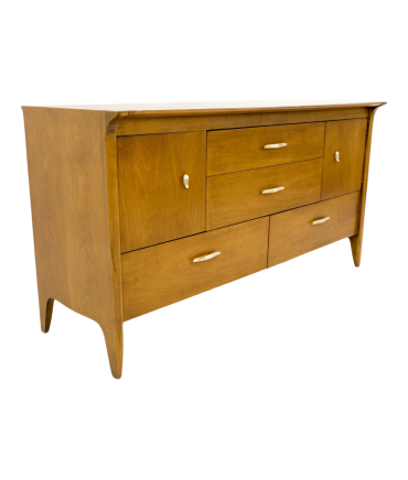 John Van Koert for Drexel Profile Mid Century Sideboard Credenza Buffet with Optional Hutch