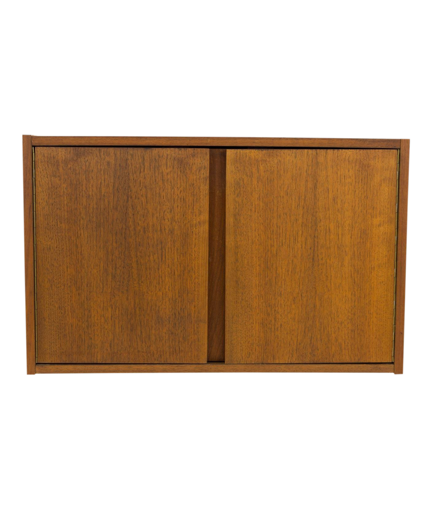 George Nelson Omni Mid Century Wall Shelving Unit Small 2 Door Cabinet