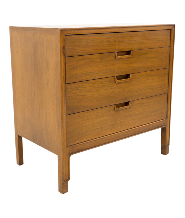 John Stuart Janus Collection for Mt Airy Furniture 4 Drawer Mid Century Walnut Chest of Drawers