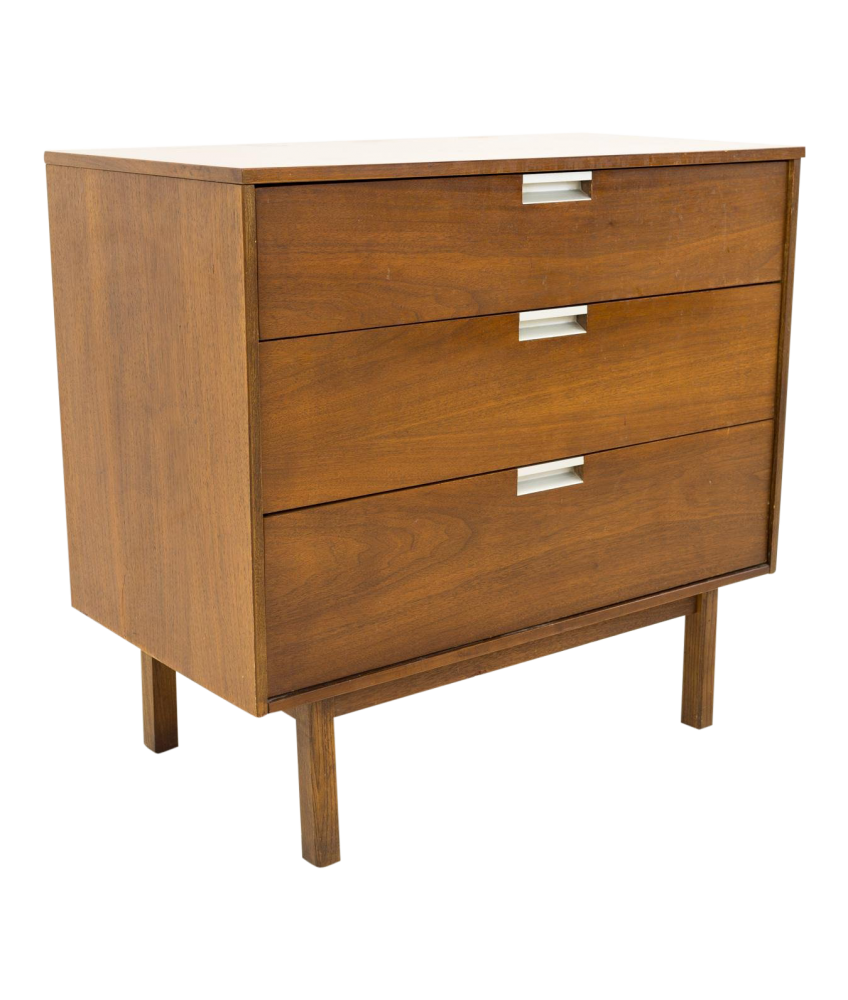 Bassett Mid Century 3 drawer Chest of Drawers with Formica Top