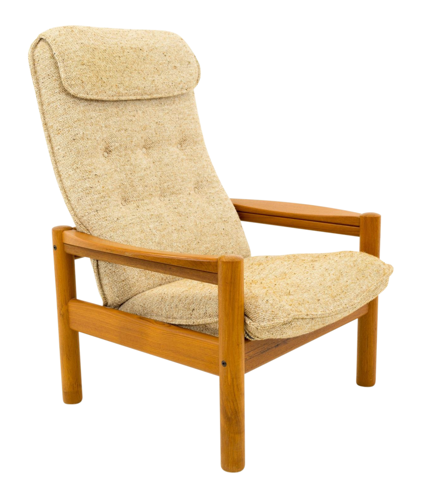 Tarm Stole OG Mobelfabrik Style Mid Century Teak Highback Lounge Chair by Domino Mobler