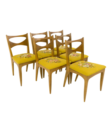 Paul McCobb Style John Van Koert for Drexel Profile Mid Century Bowtie Dining Chairs - Set of 6