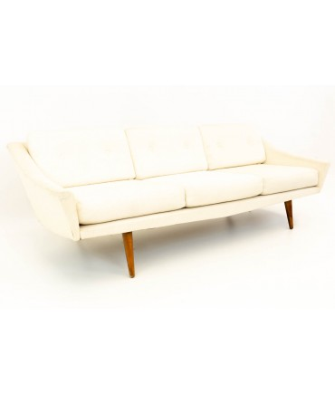 Adrian Pearsall for Craft Associates Mid Century Modern Slant Back Sofa