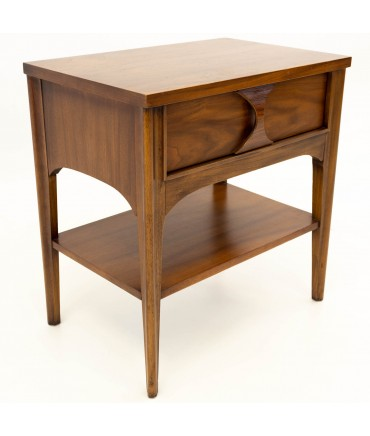 Kent Coffey Perspecta Mid Century Modern Nightstand Side End Table