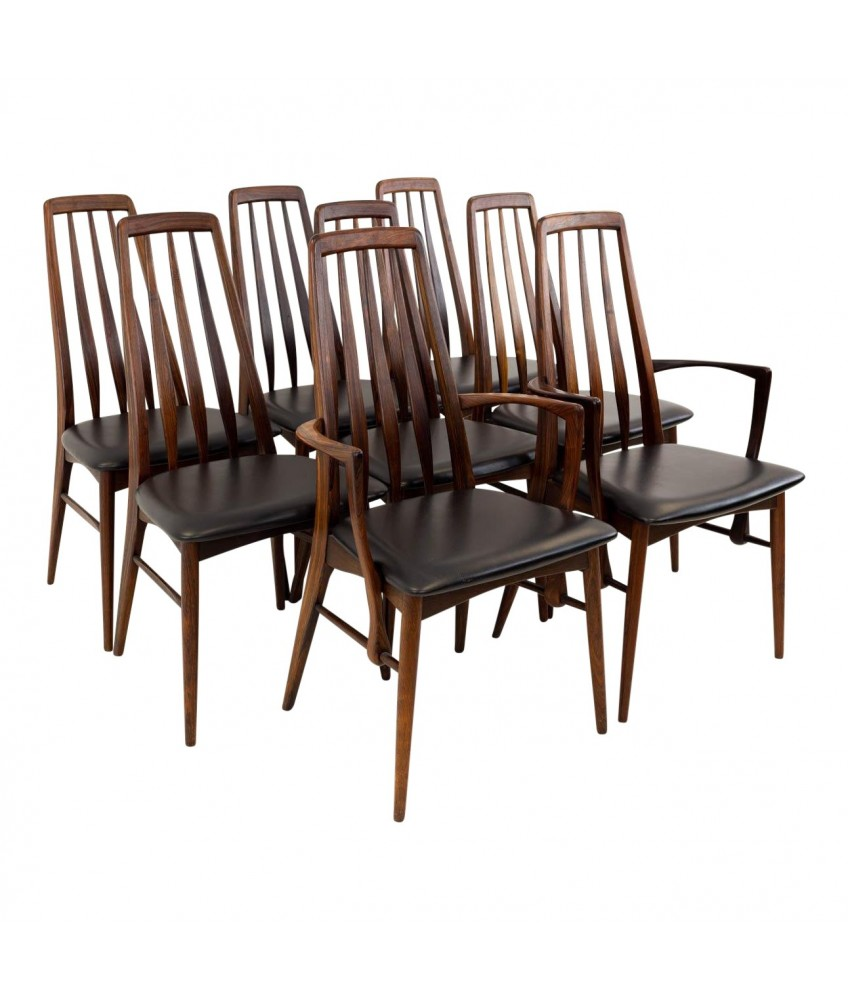 Wondrous Niels Koefoeds Hornslet Rosewood Eva Mid Century Modern Dining Chairs Set Of 8 Creativecarmelina Interior Chair Design Creativecarmelinacom