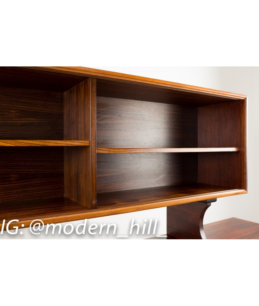 Rosewood Sideboard and Hutch by Einar Hallas for Faarup Mobelfabrik