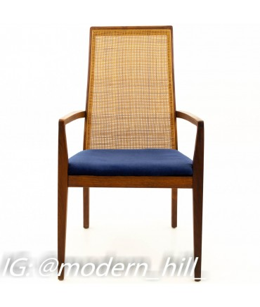 Merton Gershun for Dillingham Esprit Caned Back Mid Century Modern Dining Chairs - Set of 6