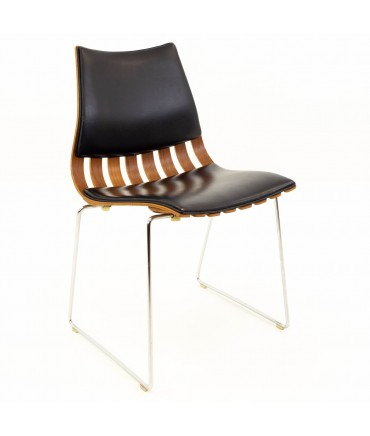 Hans Brattrud Mid Century Teak Padded Scandia Chair for Hove Mobler