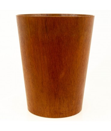 Mid Century Danish Teak Waste Basket Trash Can