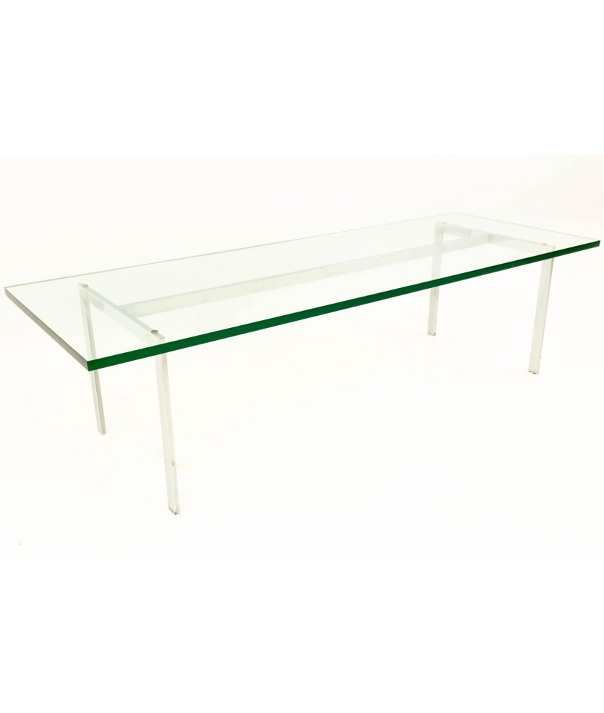 Awesome Mies Van Der Rohe Barcelona Style Mid Century Modern Chrome Glass Coffee Table Home Interior And Landscaping Oversignezvosmurscom