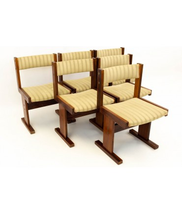 Rosewood Danish Mid Century Modern Dining Chairs by Gangso Mobler - Set of 6