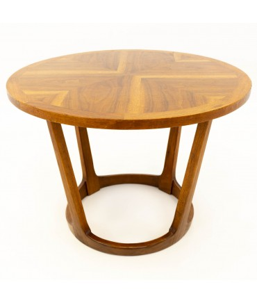 Lane Adrian Pearsall Style Mid Century Circular Side End Table