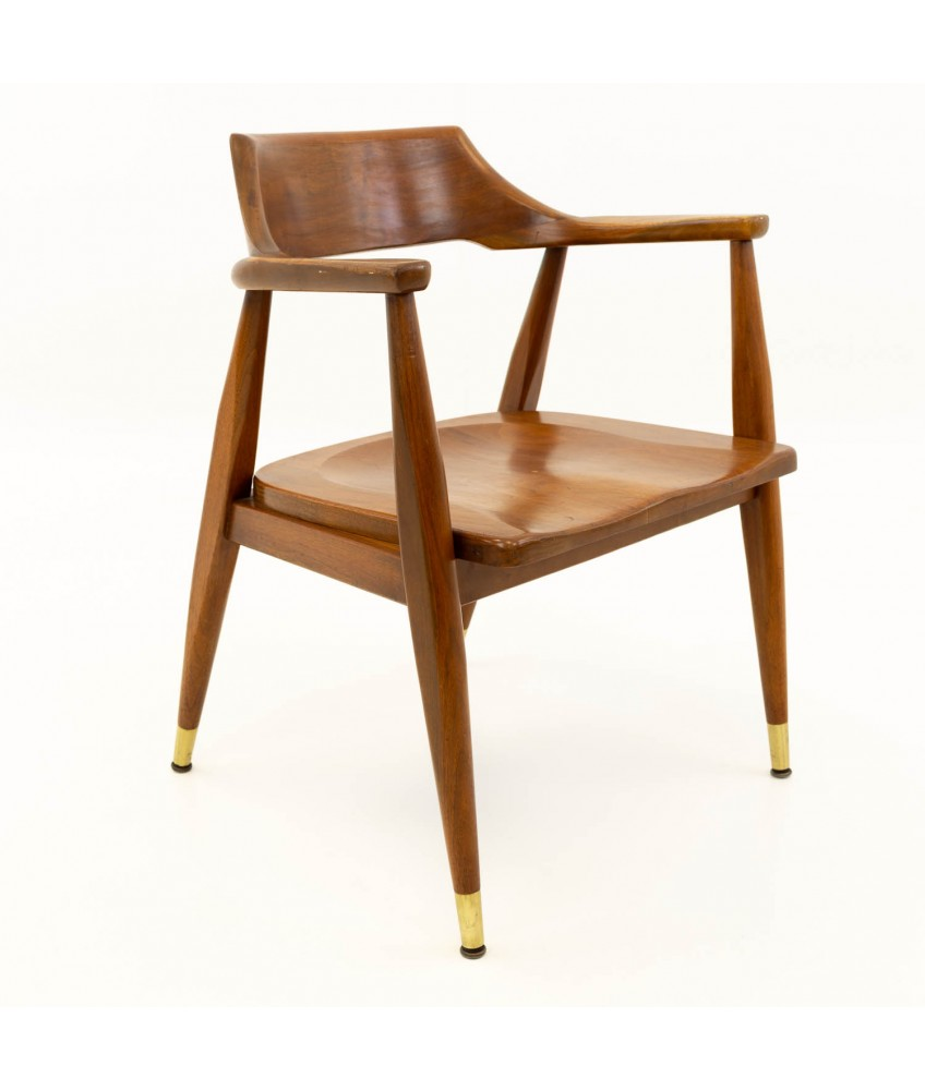 Paoli Mid Century Modern Walnut Desk Chair