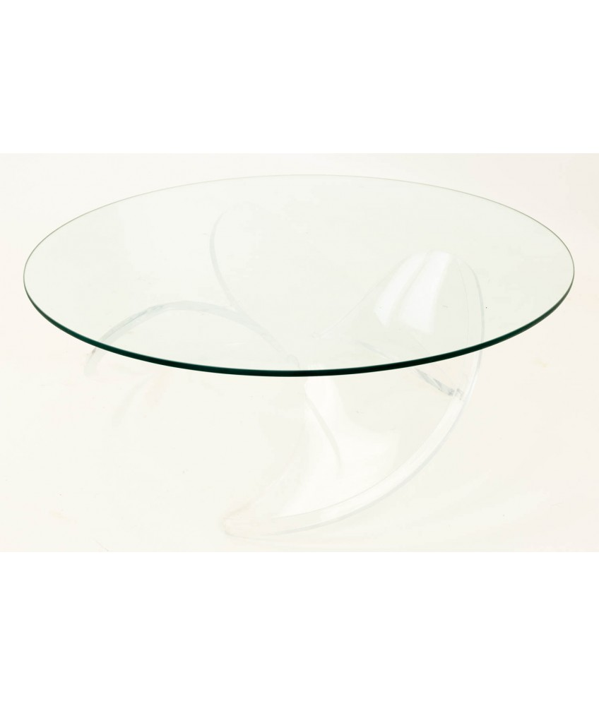 a582a27e9ce8 Knut Hesterburg Propeller Style Lucite and Glass Mid Century Coffee Table