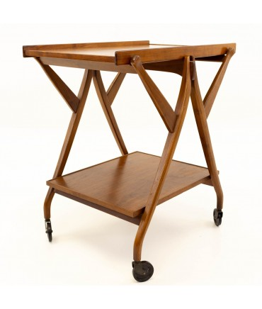 Kipp Stewart for Drexel Declarations Mid Century Walnut Barcart Server