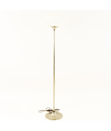 Laurel Chrome Mid Century Mushroom Floor Lamp