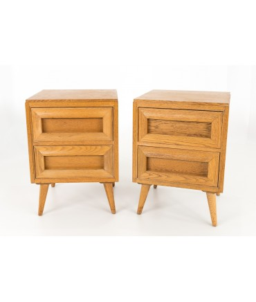 Rway Mid Century Blonde Nightstands - Matching Pair